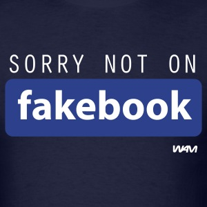 Navy not on fakebook by wam T-Shirts - Men's T-Shirt
