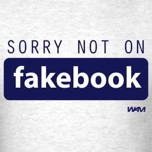 Ash  not on fakebook by wam T-Shirts - Men's T-Shirt