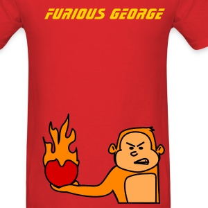 Red Furious George T-Shirts - Men's T-Shirt