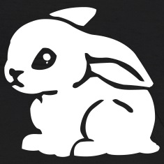 Black White Bunny Sweatshirts