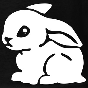 Black White Bunny Kids Shirts - Kids' T-Shirt