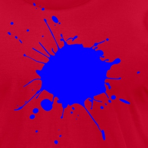 JETS Splat (blue) - Men's T-Shirt by American Apparel