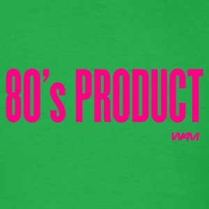 Bright green 80's product by wam T-Shirts - Men's T-Shirt