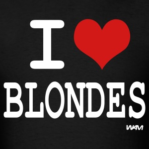 Black i love blondes by wam T-Shirts - Men's T-Shirt