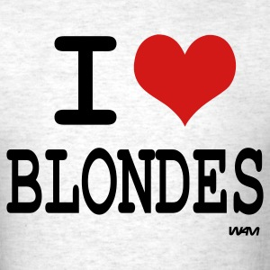 Ash  i love blondes by wam T-Shirts - Men's T-Shirt
