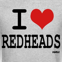 Heather grey i love redheads by wam Long sleeve shirts