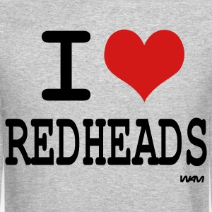 Heather grey i love redheads by wam Long sleeve shirts - Crewneck Sweatshirt