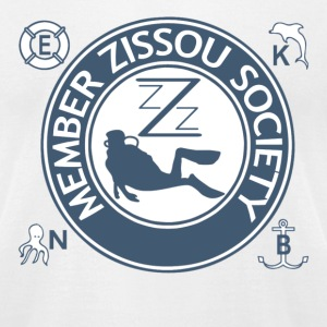 White Team Zissou Aquatic T-Shirts - Men's T-Shirt by American Apparel