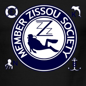 White/navy Team Zissou Life T-Shirts - Men's Ringer T-Shirt