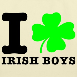 Creme i love irish boys Bags  - Eco-Friendly Cotton Tote