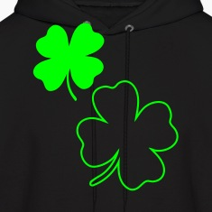 Black irish shamrock Hoodies