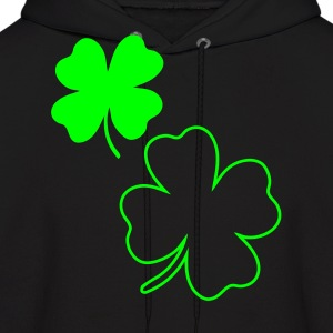 Black irish shamrock Hoodies - Men's Hoodie