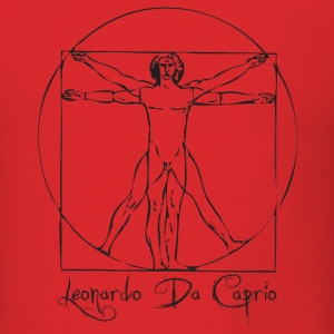 Red Leonardo Da Caprio T-Shirts - Men's T-Shirt