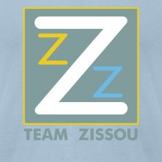 Light blue Team Zissou Logo T-Shirts