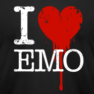 Design ~ I Heart Emo black t-shirt