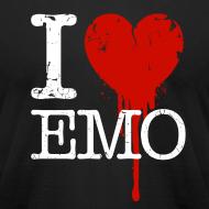 Design ~ I Heart Emo black t-shirt