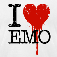 Design ~ I Heart Emo white t-shirt