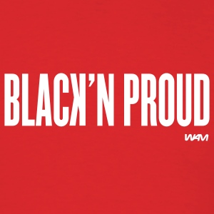 Red black'n proud by wam T-Shirts - Men's T-Shirt