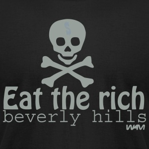 Black eat the rich by wam T-Shirts - Men's T-Shirt by American Apparel