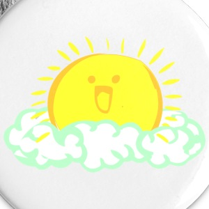 White Rise and SHINE sun~ Buttons - Large Buttons