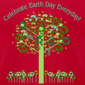 Light blue Celebrate Earth Day Everyday T-Shirts - Men's T-Shirt by American Apparel