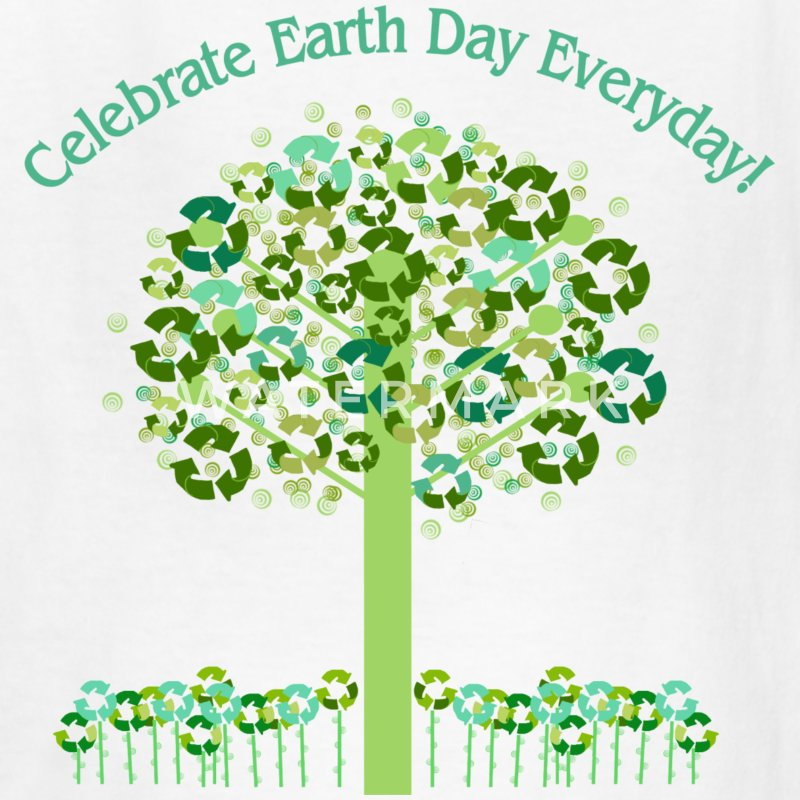 White Celebrate Earth Day Everyday Kids Shirts - Kids' T-Shirt