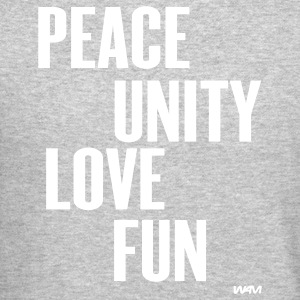 peace unity love and fun by wam T-shirts (manches longues) - Molleton à encolure ronde pour hommes