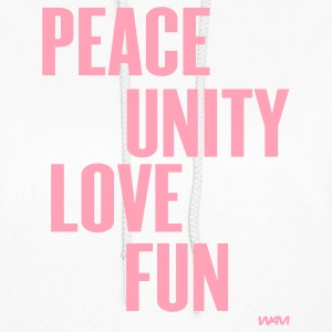 White peace unity love and fun by wam Hooded Sweatshirts - Women's Hoodie