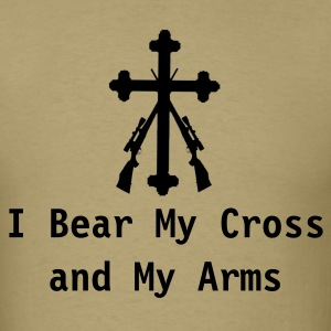 Bear Cross and Arms (LT) - Men's T-Shirt