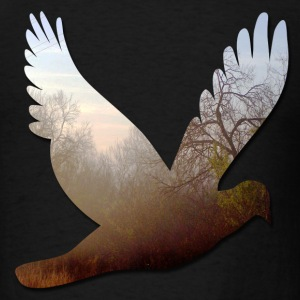 Black good_morning_dove T-Shirts - Men's T-Shirt