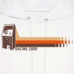White Racing2000 Hoodies - Men's Hoodie