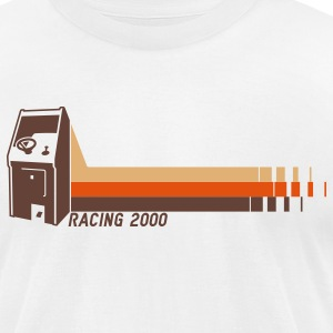White Racing2000 T-Shirts - Men's T-Shirt by American Apparel