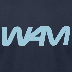 Navy wam brand logo T-Shirts - Men's T-Shirt by American Apparel