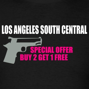 Black LOS ANGELES south central by wam T-Shirts - Men's T-Shirt