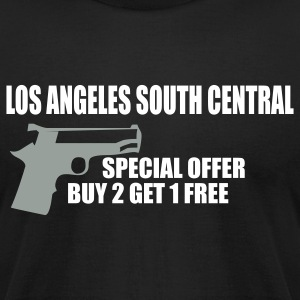 Black LOS ANGELES south central by wam T-Shirts - Men's T-Shirt by American Apparel
