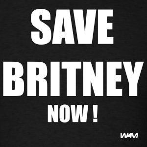 Black save britney by wam T-Shirts - Men's T-Shirt