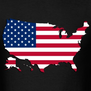 USA  Map-Flag 2 - Men's T-Shirt