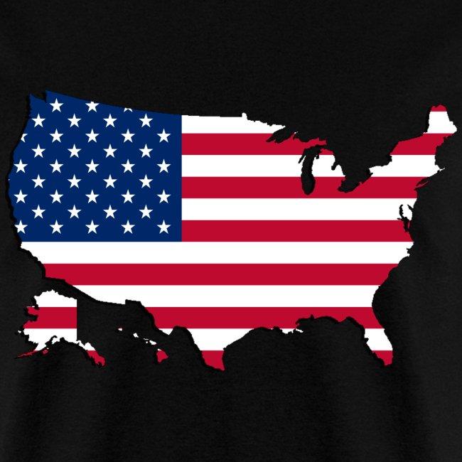 Robins shirt shop | USA Map-Flag 2 - Mens T-Shirt