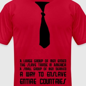 Red Funky Tie T-Shirts - Men's T-Shirt by American Apparel