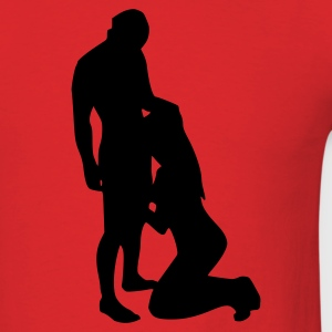 Red Oral Sex T-Shirts - Men's T-Shirt
