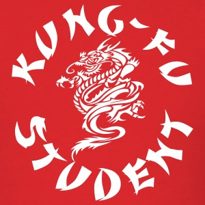 Red kungfu student by wam T-Shirts - Men's T-Shirt