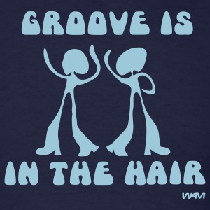 Navy groove in the Hair by wam T-Shirts - Men's T-Shirt