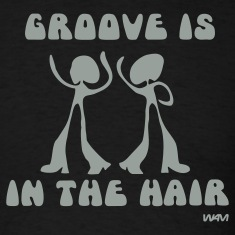 Black groove in the Hair by wam T-Shirts