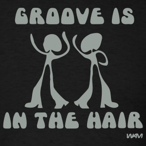 Black groove in the Hair by wam T-Shirts - Men's T-Shirt
