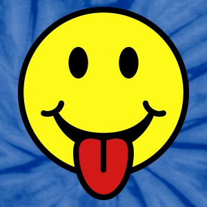 Smiley with Tongue T Shirt - Unisex Tie Dye T-Shirt