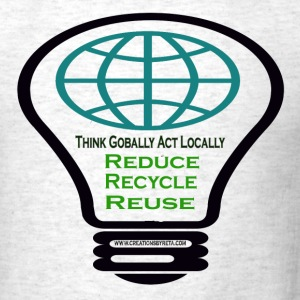 Ash  reduce_recycle_reuse T-Shirts - Men's T-Shirt