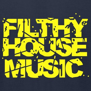 Navy Filthy House Music T-Shirts - Men's T-Shirt by American Apparel