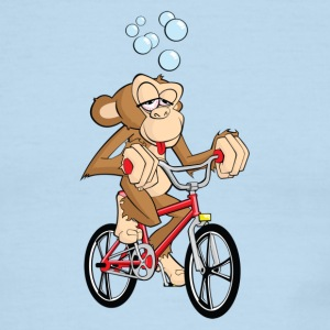 Drunken Monkey Riding Bicycle - Men's Ringer T-Shirt