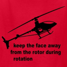 Red helicopter rotor warning Kids Shirts
