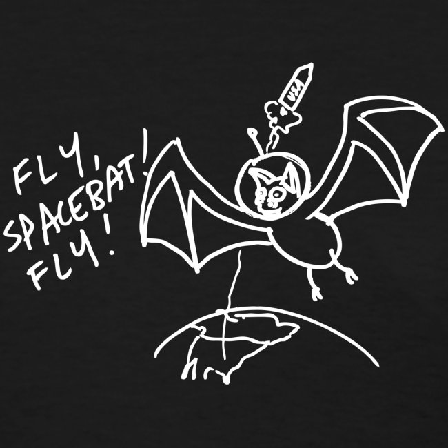 Fly Space Bat Fly Ladies Tee (Dark)